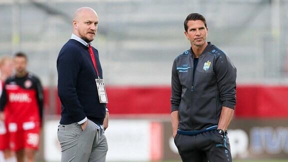 Chemnitzer FC: Trainer Patrick Glöckner und Sportdirektor Armin Causevic