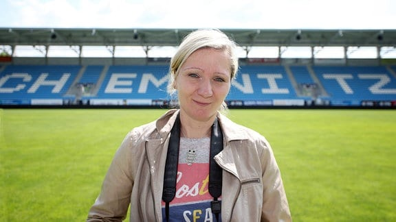 Peggy Schellenberger, Fanbeauftragte des Chemnitzer FC.