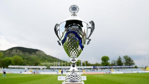 Pokal für den Sieger der Regionalliga Nordost