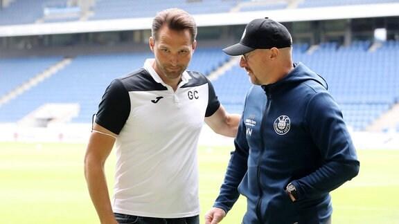Trainer Guerino Capretti SC Verl und Trainer und Sportdirektor Wolfgang Wolf Lok