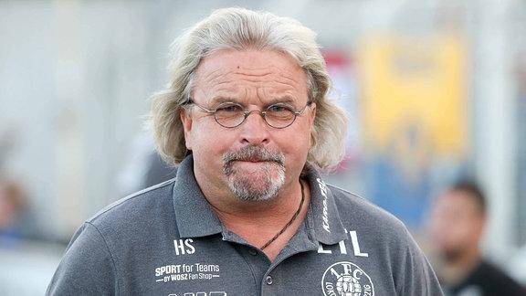 1. FC Lokomotive Leipzig - FC Rot-Weiߟ Erfurt , Im Bild: Trainer Heiko Scholz (Lok)