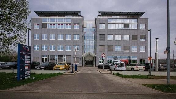Außenansicht des Thüringer Fußballverbandsgebäudes