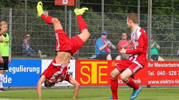 Torjubel von Sinisa Veselinovic (Eintracht Norderstedt)