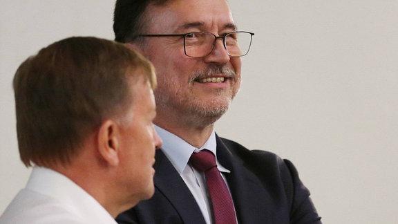 Prof.Dr. Dirk Esser im Gespräch mit Insolvenzverwalter Volker Reinhardt