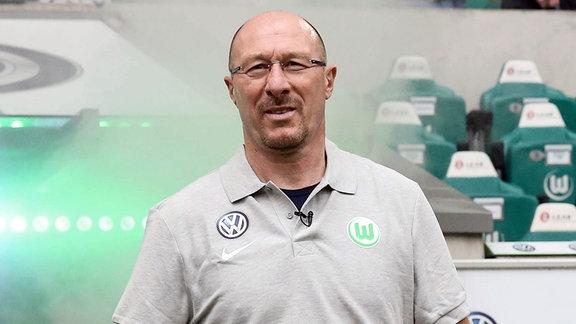 Trainer Wolfgang Wolf, VfL Wolfsburg Allstars