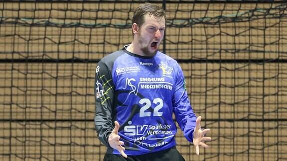 Mario Huhnstock (Dresden, 22) jubelt.