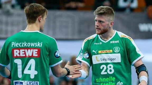 Niklas Pieczkowski (Leipzig, 14) und Maciej Gebala (Leipzig, 28)