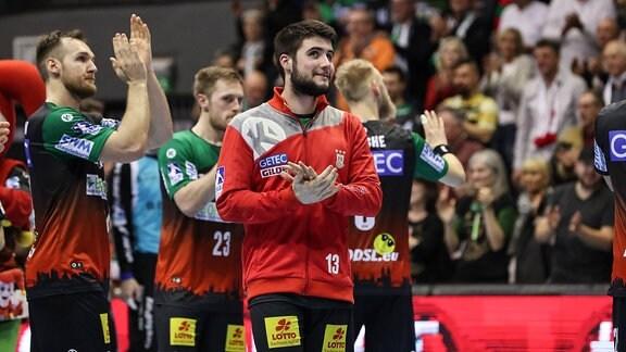 uan de la Pena (SC Magdeburg) - Handball Bundesliga Saison 2018-2019 Punktspiel SC Magdeburg vs. MT Melsungen in der GETEC Arena in Magdeburg
