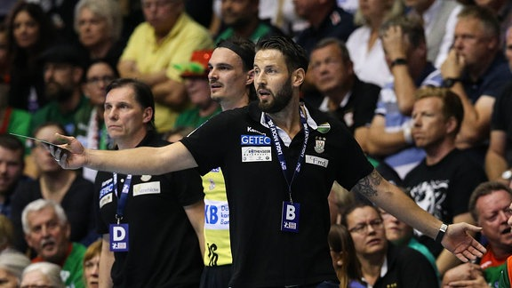 Trainer Bennet Wiegert (SC Magdeburg) - Handball Bundesliga Saison 2019-2020 SC Magdeburg vs. THW Kiel in der GETEC Arena in Magdeburg