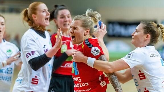 Sophie Lütke SV Union Halle setzt sich durch.