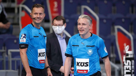 Handball-Schiedsrichtergespann Tobias Tönnies und Robert Schulze (Magdeburg)