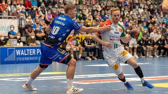 Omar Ingi Magnusson SC Magdeburg gegen Daniel Ingason HBW Balingen-Weilstetten