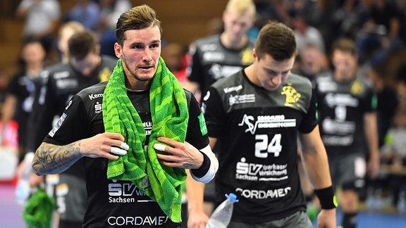 Marek Vanco und Robin Hoffmann enttäuscht.