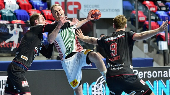 Steffen Fäth 13, HCE,  Omar Ingi Magnusson 14, SC Magdeburg und Petter Overby  9, HCE