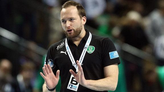 Trainer Andre Haber, SC DHfK Leipzig
