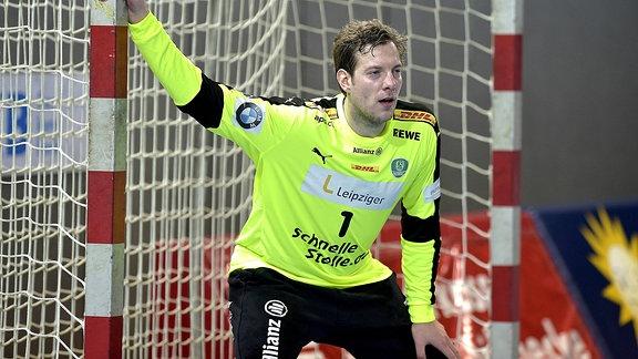 Jens Vortmann vom SCDHfK Leipzig im Tor.