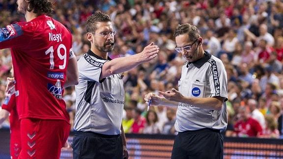 DHB Schiedsrichter Lars Geipel und Marcus Helbig