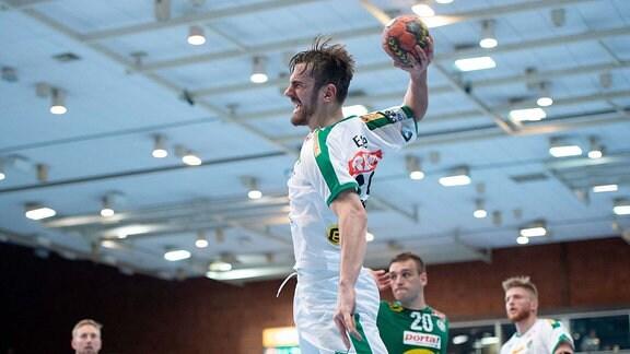 1. Handball Bundesliga - 2018/2019 - GWD Minden vs. SC DHfK Leipzig - Marc Esche (Leipzig)
