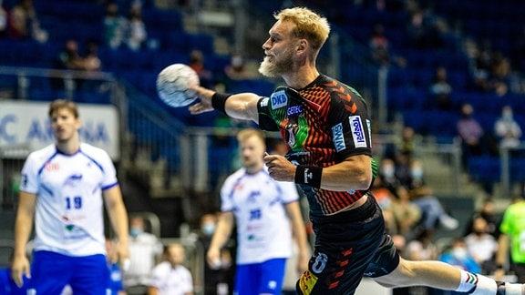 Matthias Musche (SC Magdeburg) beim Test gegen den Dessau-Roßlauer HV