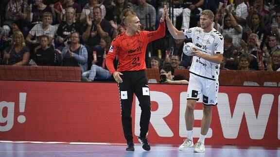 Dario Quenstedt und Magnus Landin Jacobsen (THW Kiel)