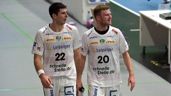 SC DHfK Leipzig: Philipp Weber und Marko Mamic