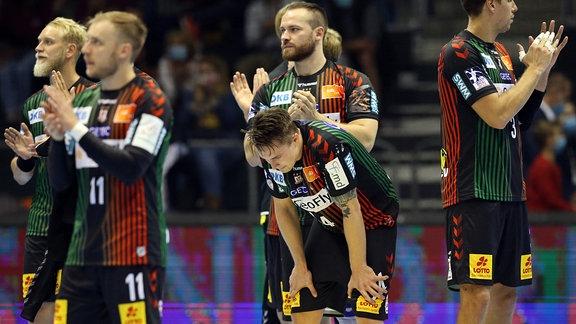 SC Magdeburg Spieler in der GETEC Arena