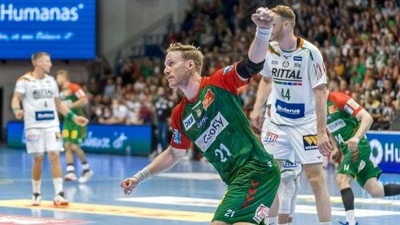 Magnus Gullerud SCM, 21 Jubel nach einem Tor.