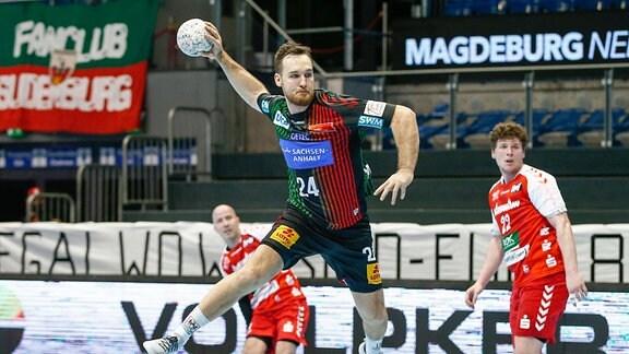 Christian O Sullivan von Magdeburg erzielt ein Tor