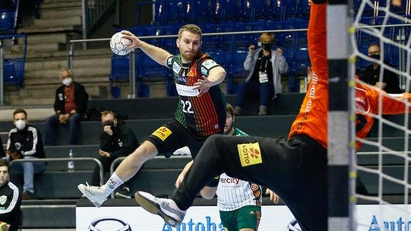 Lukas Mertens Magdeburg, 22 wirft ein Tor