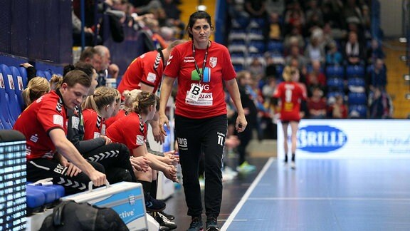 Tanja Logvin (Trainerin SV Union Halle-Neustadt)