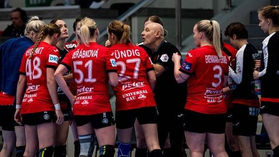 Team Thüringer HC in der Auszeit