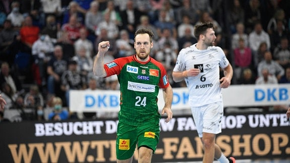 Christian Sullivan (SC Magdeburg, 24) jubelt-