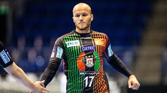 Tim Hornke  17 SC Magdeburg waehrend der Saison-Vorbereitung