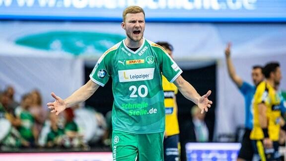 Rückraumspieler Philipp Weber (SC DHfK Leipzig)