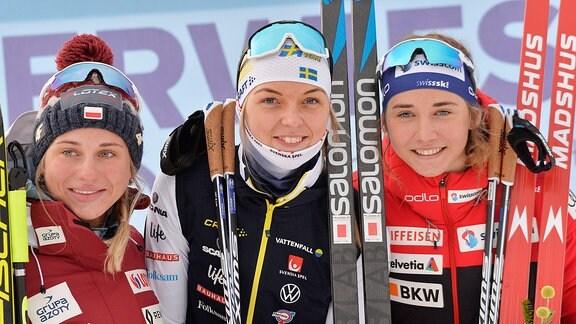 Frauen Top 3 - Lindström, Marcisz, Wigger