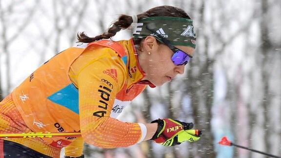 Alexandra Danner (Deutschland/Lenggries) beim Langlauf-Sprint U23