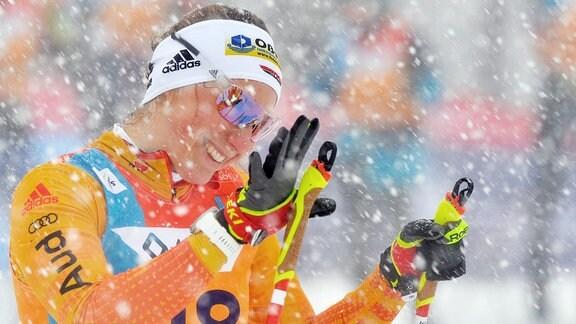 Antonia Fräbel (Deutschland/Asbach) beim Langlauf-Sprint U23