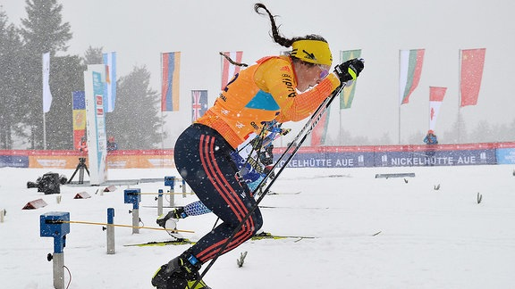 Coletta Rydzek (Deutschland / Oberstdorf) im Viertelfinale beim Langlauf-Sprint U23