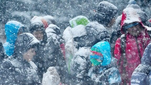Schneetreiben beim Langlauf-Sprint U23