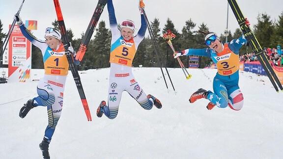 Top 3 Frauen - Ribom, Hagström, Kern