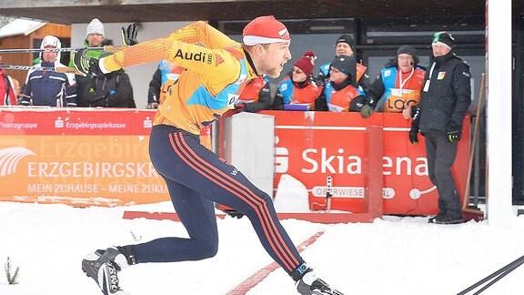 Josef Fässler (Deutschland / Scheidegg) beim Langlauf-Sprint U23