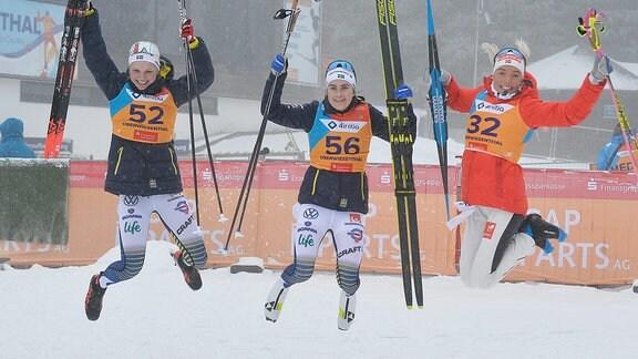 Siegerinnen Ribom, Anderson und Johansen