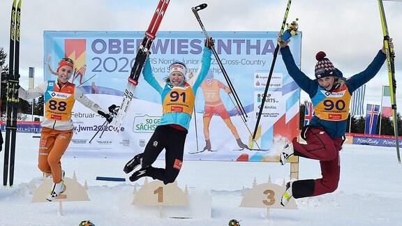 Top 3 Frauen - Fossesholm, Lohmnann, Marcisz