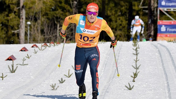 Friedrich Moch beim Zieleinlauf