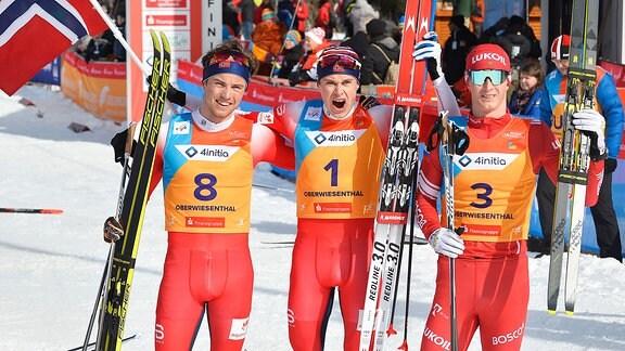 Haavard Moseby, Harald Amundsen, Sergej Ardaschew