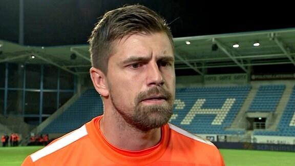 Benjamin Kirsten (Lok Leipzig) im Interview nach dem Sachsenpokal-Halbfinale gegen den Chemnitzer FC