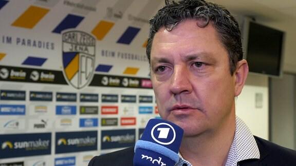 Chris Förster, Geschäftsführer beim FC Carl Zeiss Jena.