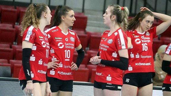 v.l. Maja Storck, Lena Stigrot, Emmy Cyris, Madeleine Gates alle Dredsner SC.