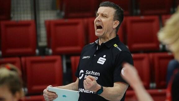 Trainer Alexander Waibl (Dresdner SC)