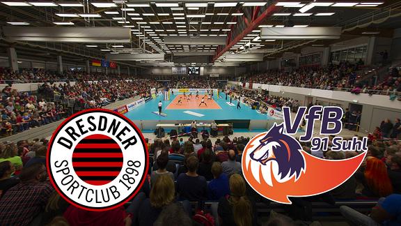 Dresden Volleyball - Dresdner SC gegen VfB Suhl in der Margon-Arena Dresden